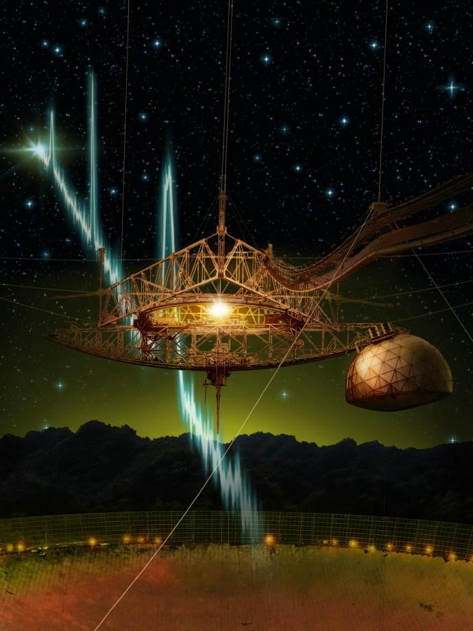 푸에르토리코 아레시보천문대에 있는 윌리엄고든망원경. - McGrillUniversity 제공